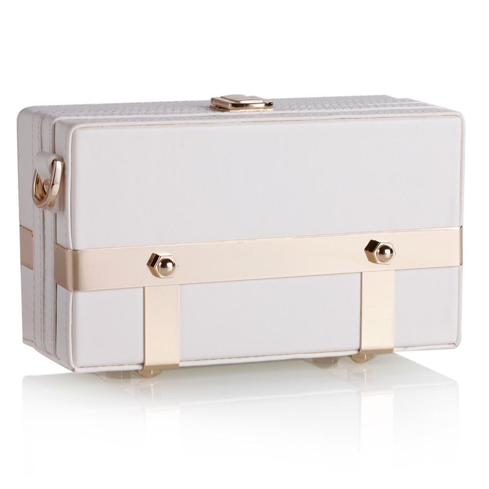Cream White Womens Trinket Storage Bag Leather Strap Travel Box PU Jewelry Carrying Case Luxury Cell Phone Shoulder Bag 239 funny cell phone strap