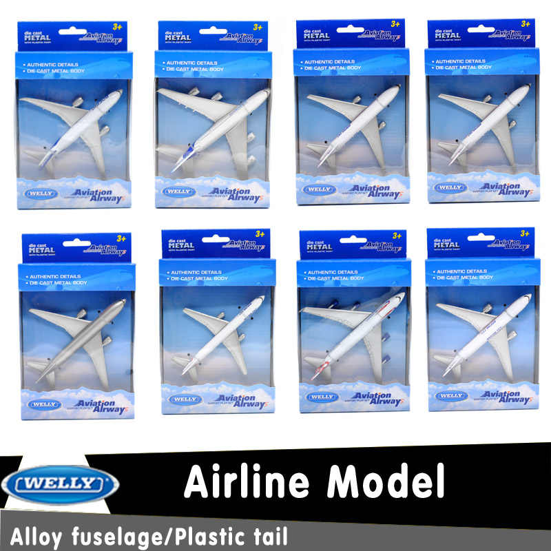 Welly DieCast Toy/Passenger Aircraft/ Alloy Airlines Model Boeing 747/AirBus A380/Educational Collection/Gift/Kid/Decoration