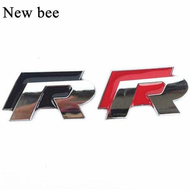 Newbee Car Styling Accessories R Emblem Badge Sticker Racing Logo Decal For Volkswagen Vw Golf 5 6 7 Polo Cc Sagitar Pat