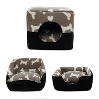 Pet Dog Multi Functional House Bed Puppy Kennel Warm Doggie Sofa Doghouse Cat Nest Pad Mat