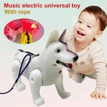 Модные Пособия по немецкому языку Shepherd Пластик светодиодный Электрический собаки для детей Прямая