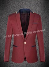 Costume Homme Burgundy Mens Blazer Slim Fit cappotto jacket blazer hombre male men suit jacket male jacket blazer masculino slim