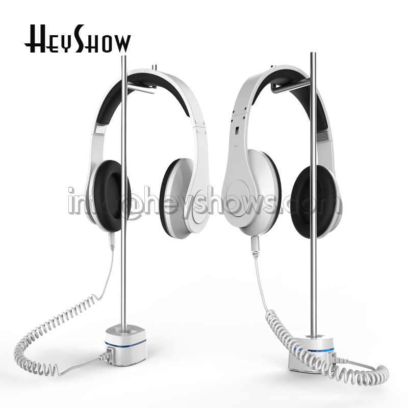 10x Headset Security Stand Anti Theft For Beats Headphone Display Holder Sony EarPhone Burglar Alarm JBL Earpiece Display