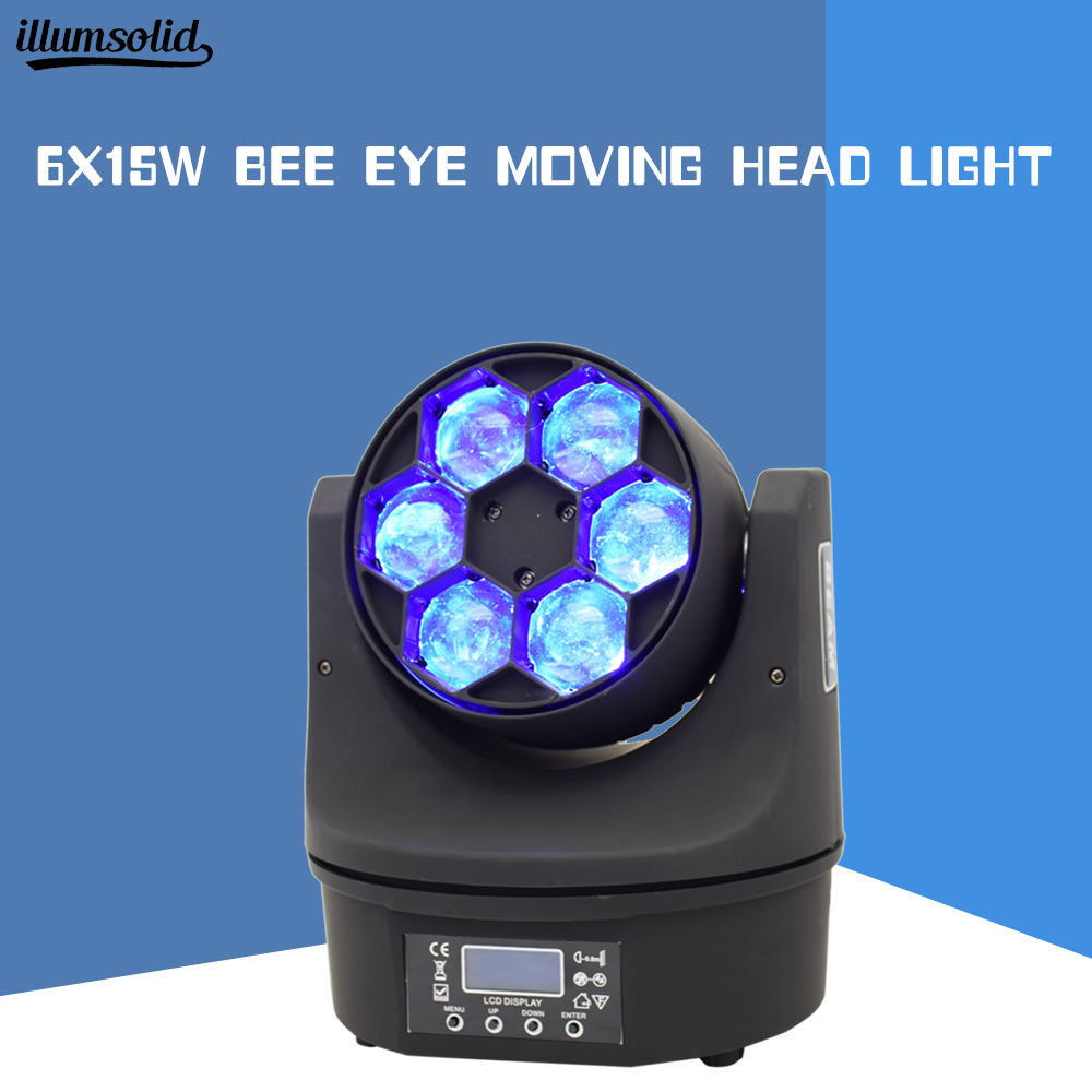 6x15w bee eye moving head beam stage light disco party beam light mini led 4in16x15w bee eye moving head beam stage light disco party beam light mini led 4in1