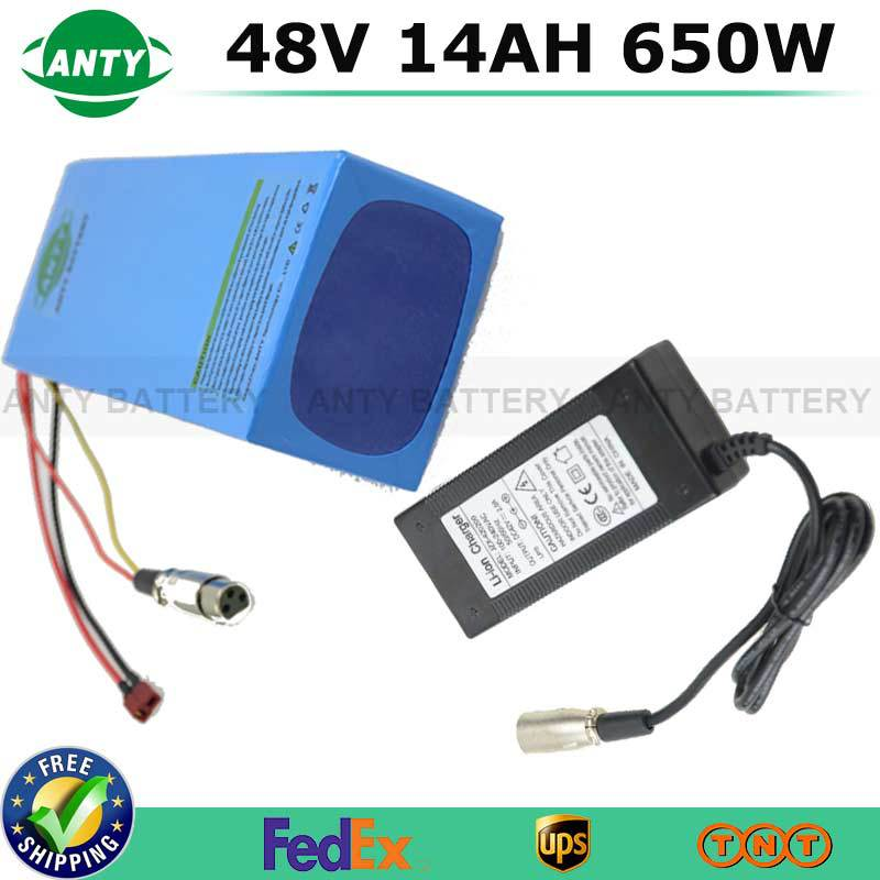 18650 Battery Pack 48V 14Ah Lithium Battery 650watt Electric Scooter Battery 48V With 54.6V 2A Charger 15A BMS ebike Battery Kit 30a 3s polymer lithium battery cell charger protection board pcb 18650 li ion lithium battery charging module 12 8 16v