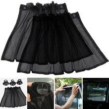 2 шт., 50X75 см, универсальная сетчатая ткань для салона автомобиля, боковое окно автомобиля, Солнцезащитная шторка, УФ-защита, с присоской, дышащая