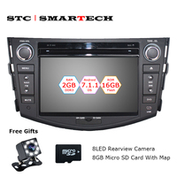 SMARTECH 2 Din Android 7 1 2 OS Car DVD Player Autoradio GPS Navigation For TOYOTA