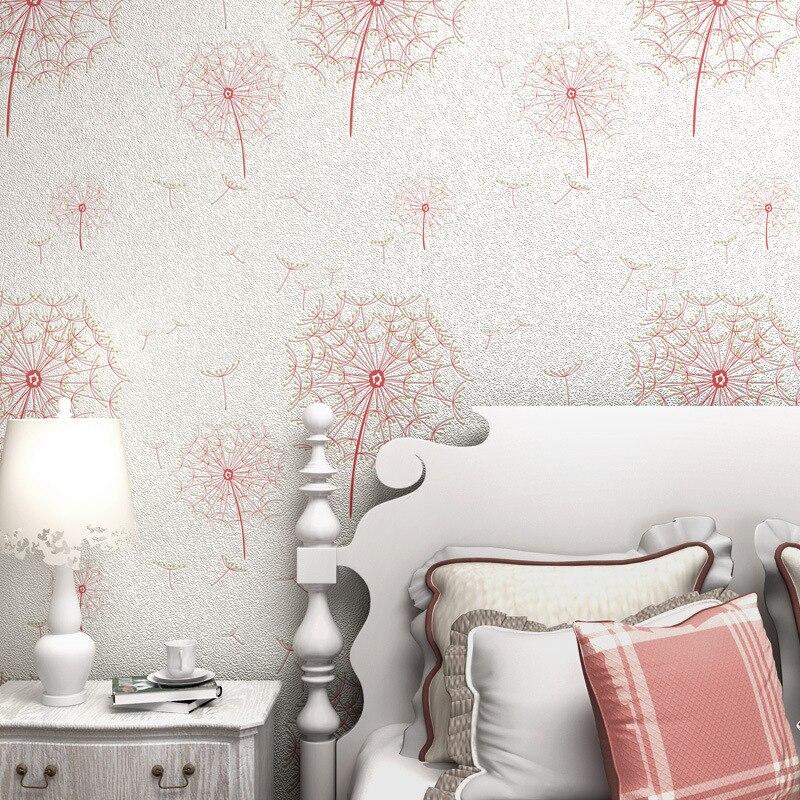 Papier peint intissé 3d gros pissenlit pastorale douce le salon le mur de la chambre à coucher de réglage du papier peint d'étude - 2