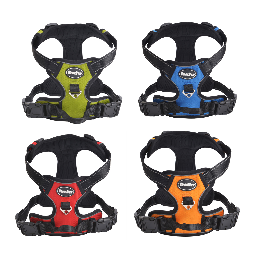 Hot Sale New Arrival breathable adventure Large Big Pet Dog Harness Walk Vest Breakaway Air Mesh Training Harness ...