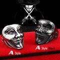 Beier nueva tienda de anillo de acero inoxidable 316l nuevo v for vendetta máscara de v hombre de joyería de moda anillo del cráneo del motorista br8-208