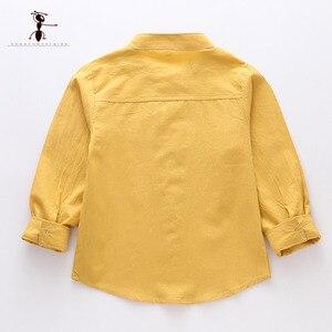 Kung Fu Ant, Весенняя однотонная Повседневная рубашка с круглым вырезом для мальчиков из 100% хлопка, школьная рубашка с длинными рукавами для маленьких мальчиков 24 мес., 2019