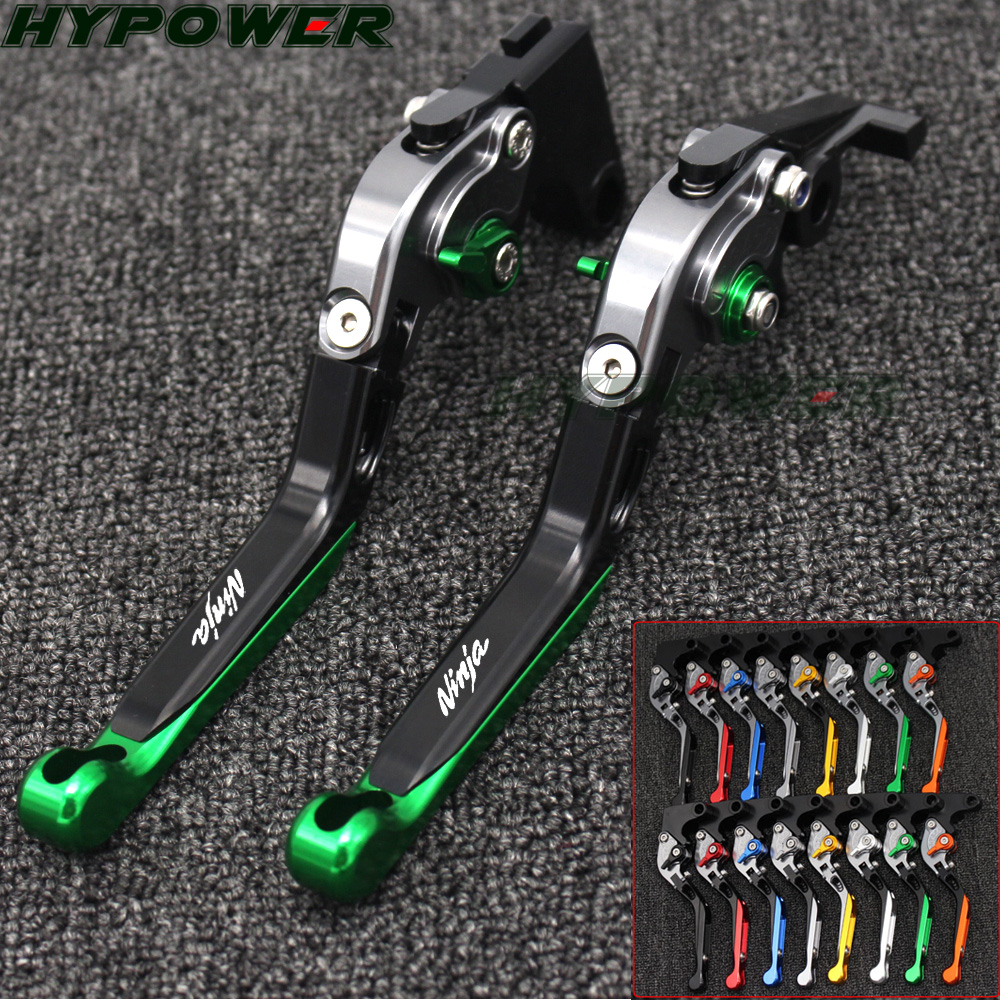 CNC Folding Brake Clutch Levers Handlebar Hand Grips 1 Set FOR Kawasaki Ninja ZX6R 636 ZX6RR ZX 6R ZX 6RR 2005 2006