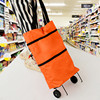 Storage Bag Large Capacity Organizer With Wheel Handle As Shopping Cart Luggage Sundries Clothes Morden Style