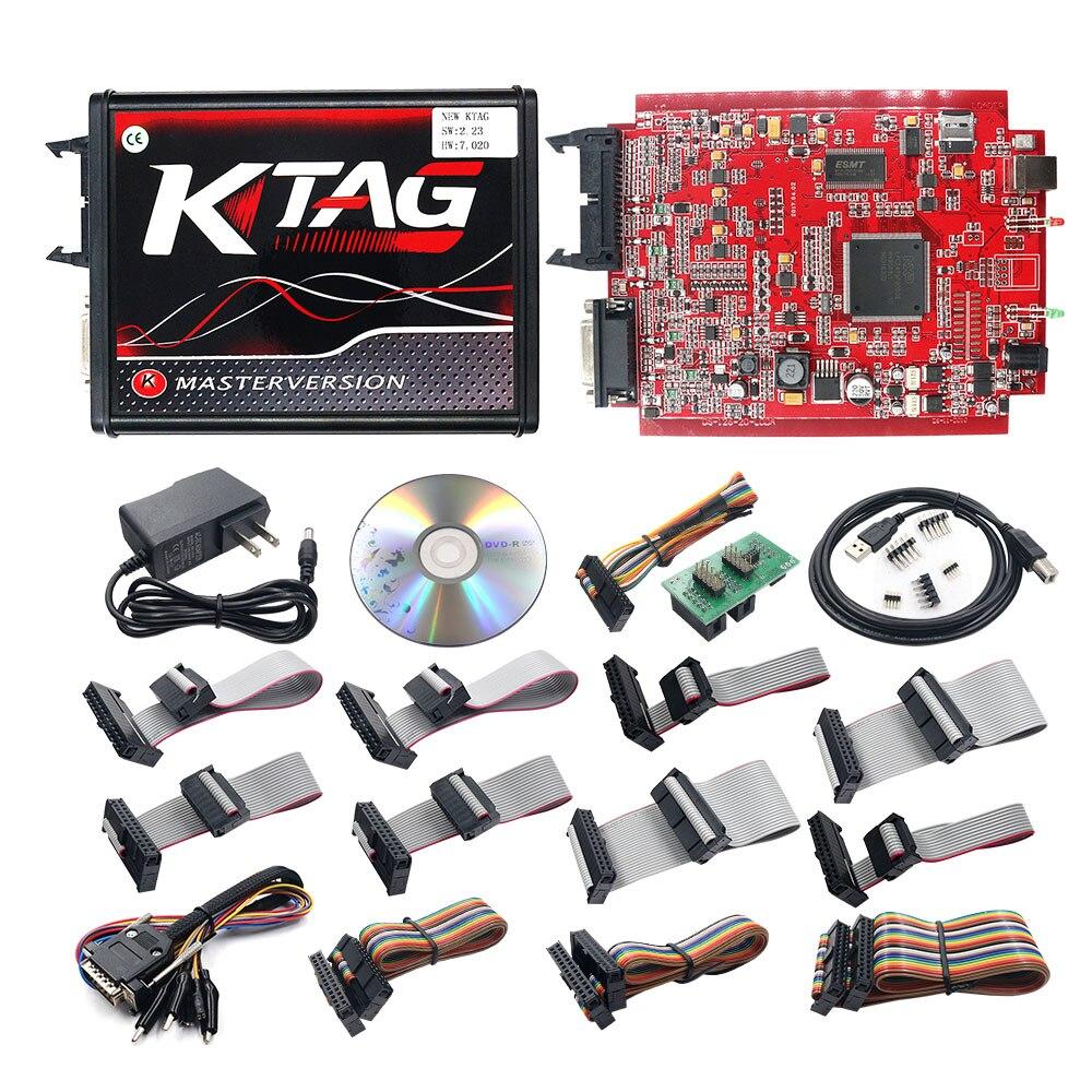Top SaleBdm-Frame Tuning Kess V5.017 Auto-Ecu-Programmer K-TAG OBD2 V2.53 4 LED Red V7.020 Manager