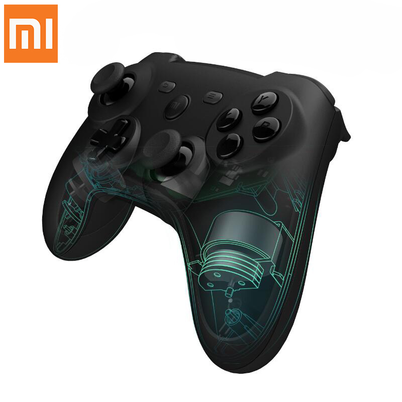 цена на in stock !! 2016 New Genuine Xiaomi Mi Wireless Bluetooth Game Handle Controller Remote Joystick Pad For Android Smart TV PC