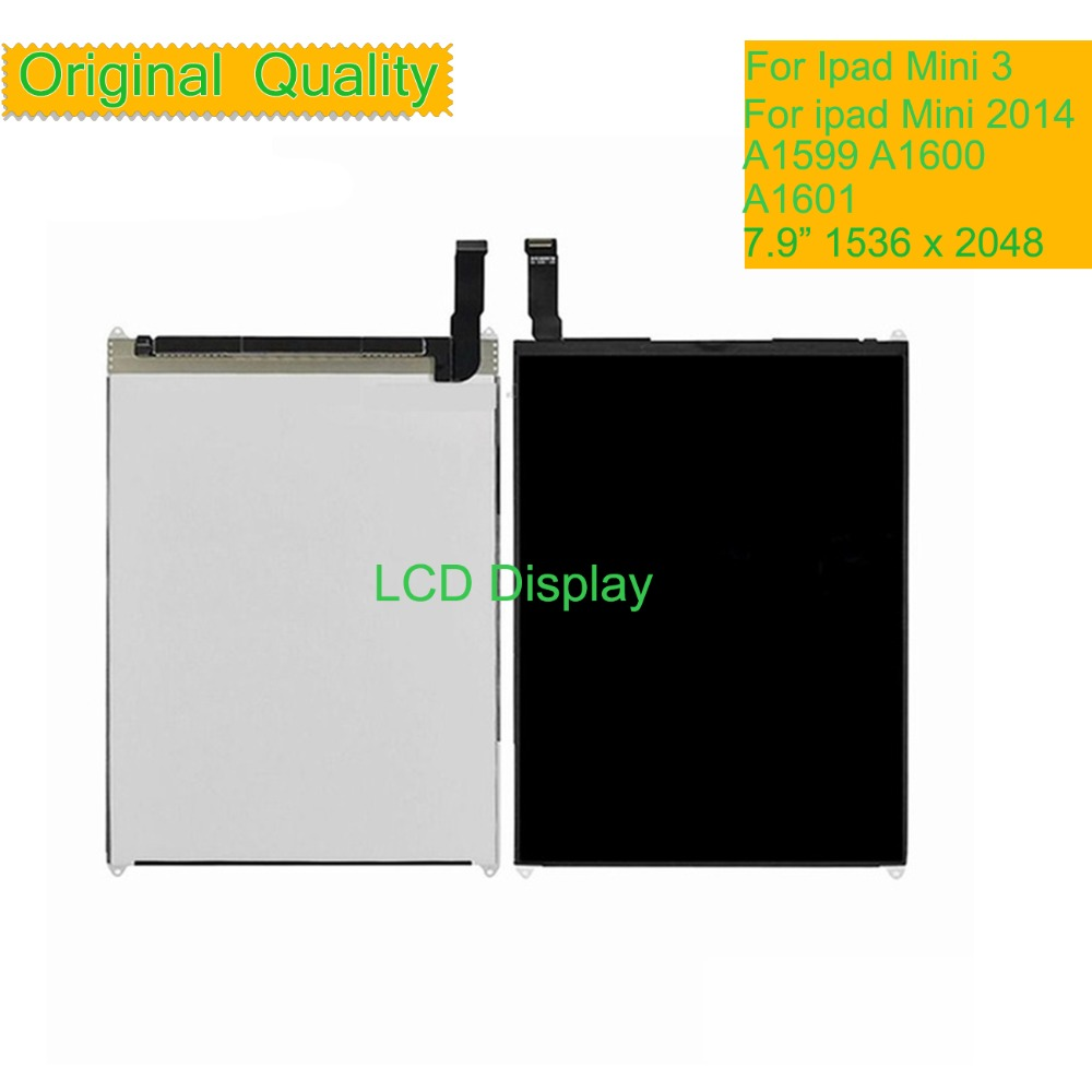 10Pcs/lot Original For Apple Mini 3 2014 LCD Display Touch Screen Digitizer A1599 A1600 A1601 LCD Panel monitor Pantalla by DHL