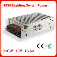 Manufacturers Selling Output 200W 12V 16 6A Switch Power S 200w 12v LED Drive Power Instrumentation