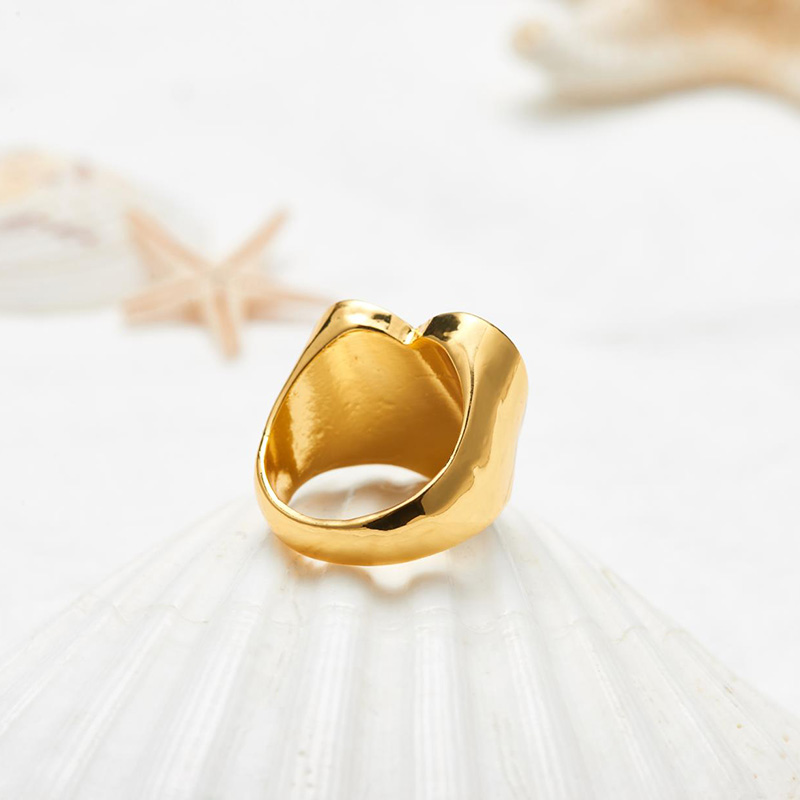 19 New Arrivals Must Have Vintage Gold Color Red Heart Rings For Women Minimalist Party Knuckle Rings Size 7 4