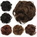 Hot 1PC Fake buns Hair Bun Chignon Extension Hairpieces Big Hair Bride Bun Ring Dount Synthetic Natural Curly Clip In Hair Buns