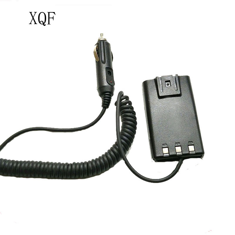 XQF Car Charger/Battery Eliminator DC 12V For HYT HYTERA TC-500 TC500 Two Way Radio