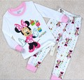 2-7 y cartoon kids pajama sets mickey cotton long sleeve clothing set spring winter child pyjamas set baby girls boys sleep wear