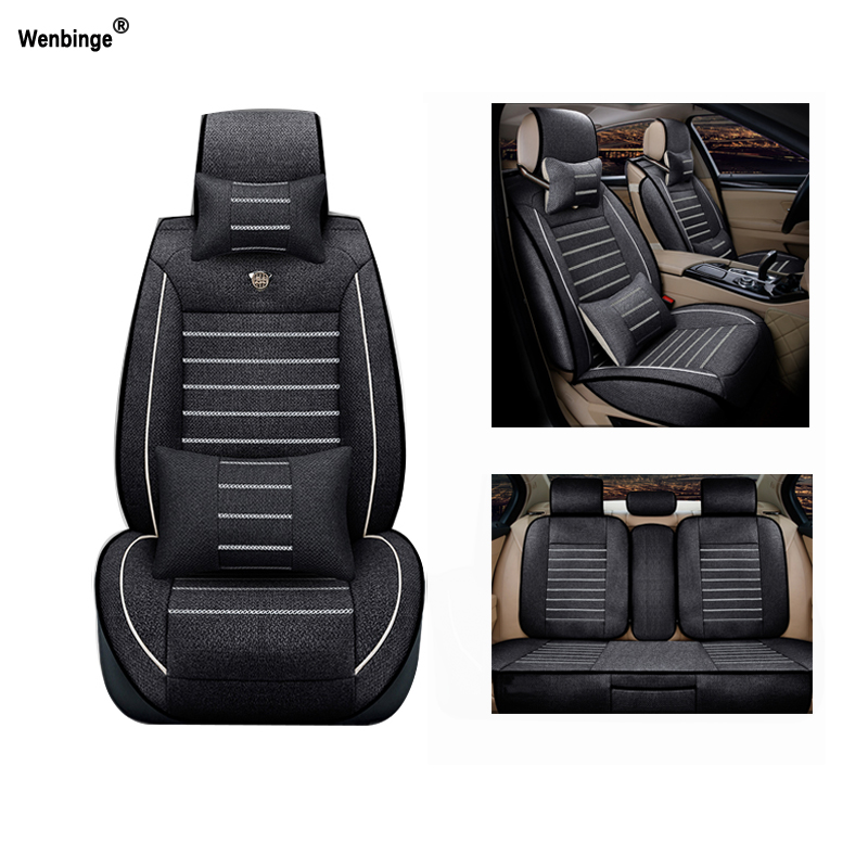 Breathable car seat covers For Cadillac SLS ATSL CTS XTS SRX CT6 ATS Escalade auto accessories car styling sticker custom fit car trunk mat for cadillac ats cts xts srx sls escalade 3d car styling all weather tray carpet cargo liner waterproof