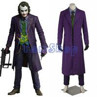 Batman Dark Knight Rise Joker Cosplay Suit Outfits Full Set Men S Halloween Costumes Custom Made