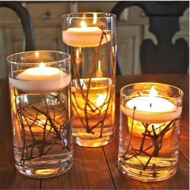 Hot 24 Pcs 1 5 Round Floating Candle Disc For Wedding Party Events Home Table Decoration