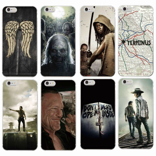The Walking Dead Zombie Rick Daryl Dixon Wings Phone Case For iPhone 7 7Plus 6 6S 6Plus 5 5S SE 5C 4 GALAXY