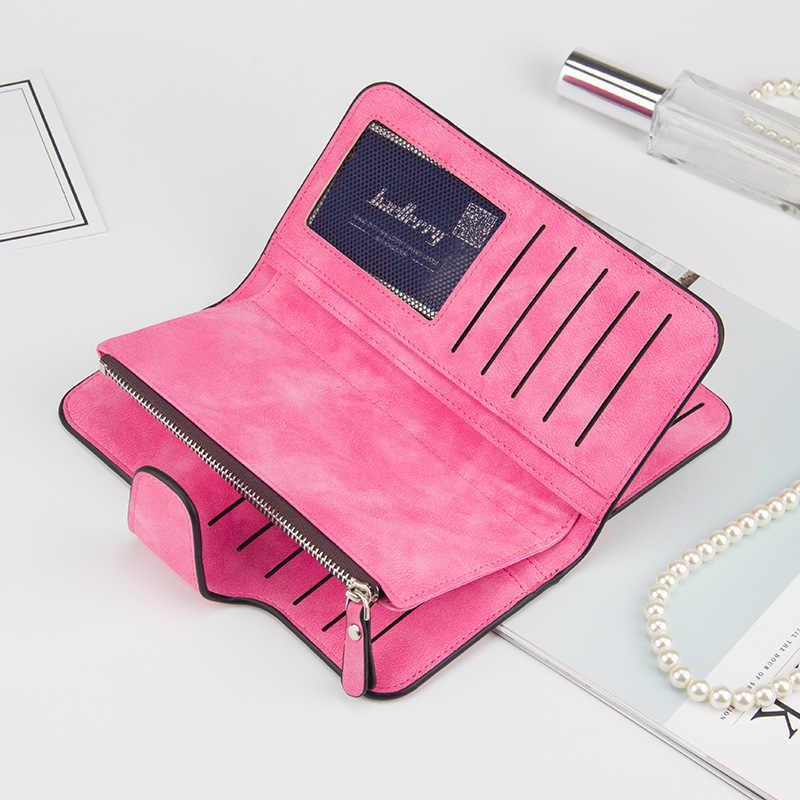 d5a536c01178 ... Новый бренд кожа Для женщин кошелек высокое качество дизайн Hasp  одноцветное Цвет карты сумки длинный женский ...