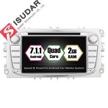Isudar магнитола 2 din автомагнитолы автомагнитола 2din телефоны сенсорные андроид android 7.1.1 для FORD/Focus/S-MAX/Mondeo/C-MAX/Galaxy Wifi авто магнитола могнитола 2 дин автомагнитола магнитола автомобильная OBD2