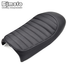 BJMOTO 1 Set Black Hump Cafe Racer Vintage Motorcycle Seat Cover 50.8 x 24.5 x 9cm For KAWASAKI /KZ /Suzuki /GS /Honda /CB(China)