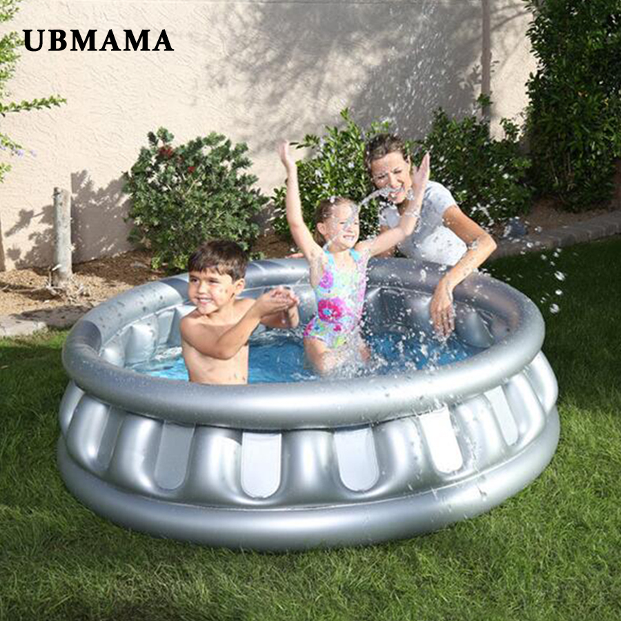 Flying Saucer Inflatable Round Pool Pure Color Children Swimming Pool Heat Preservation Kids Paddling Pool  Outdoor Pool