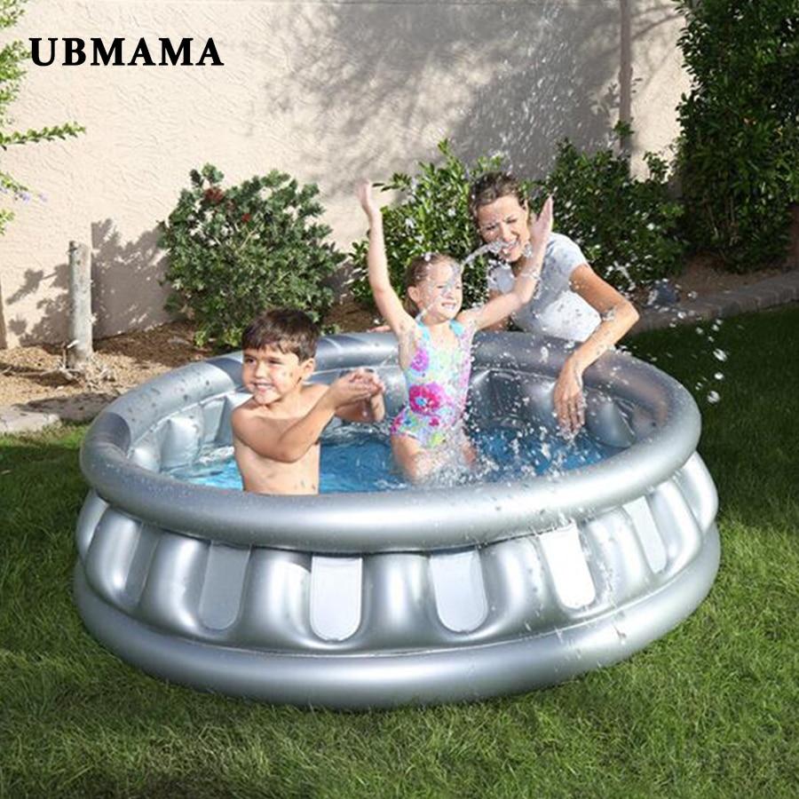 Soucoupe volante piscine ronde gonflable couleur Pure enfants piscine conservation de la chaleur enfants pataugeoire piscine extérieure