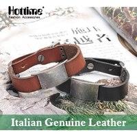 Miễn phí vận chuyển Thời Trang Ý Genuine Leather Bracelet Nhiều Màu Quyến Rũ Vòng Tay Người Đàn Ông Dây Đeo Cổ Tay Kích Thước Điều Chỉnh Mens Bangle PG007