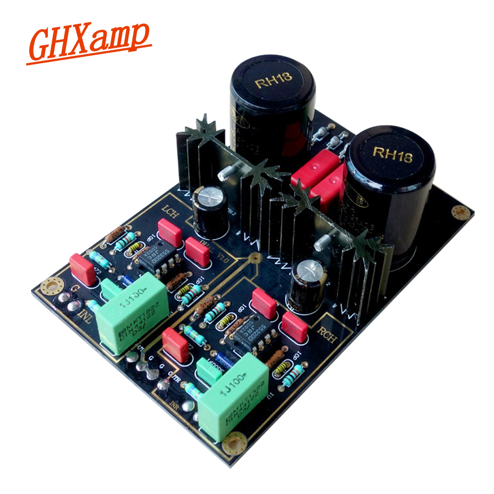 GHXAMP Germany DUAL Circuit MM PHONO NE5532 Pre-Amplifier Vintage Player Long-Playing Audio Amplifier Amplification Board цена
