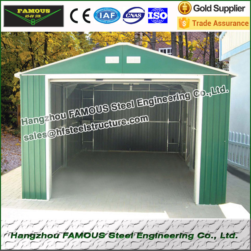 Prefabricated Steel Structure Sheds For Car Parking And Goods Storage
