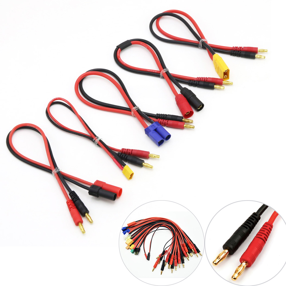 Imax B6 Charge Line 4.0mm Banana Plug To Amass MPX AS150 XT90 TRX XT60 EC5 With 12AWG Silicone Cable 30CM For Rc Lipo Battery