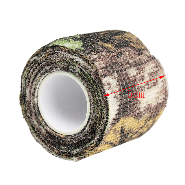 4pcs/lot Elastic Stealth Tape Hunting Military Camouflage Tape Airsoft Paintball Gun Rifle Shooting Stretch Bandage Camo Tape 3