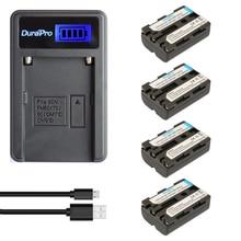 DuraPro 4Pcs 1800mAh NP-FM500h Battery +LCD USB Charger for Sony Alpha A57 A58 A65 A77 A99 A350 A450 A500 A550 A700 A850 A900