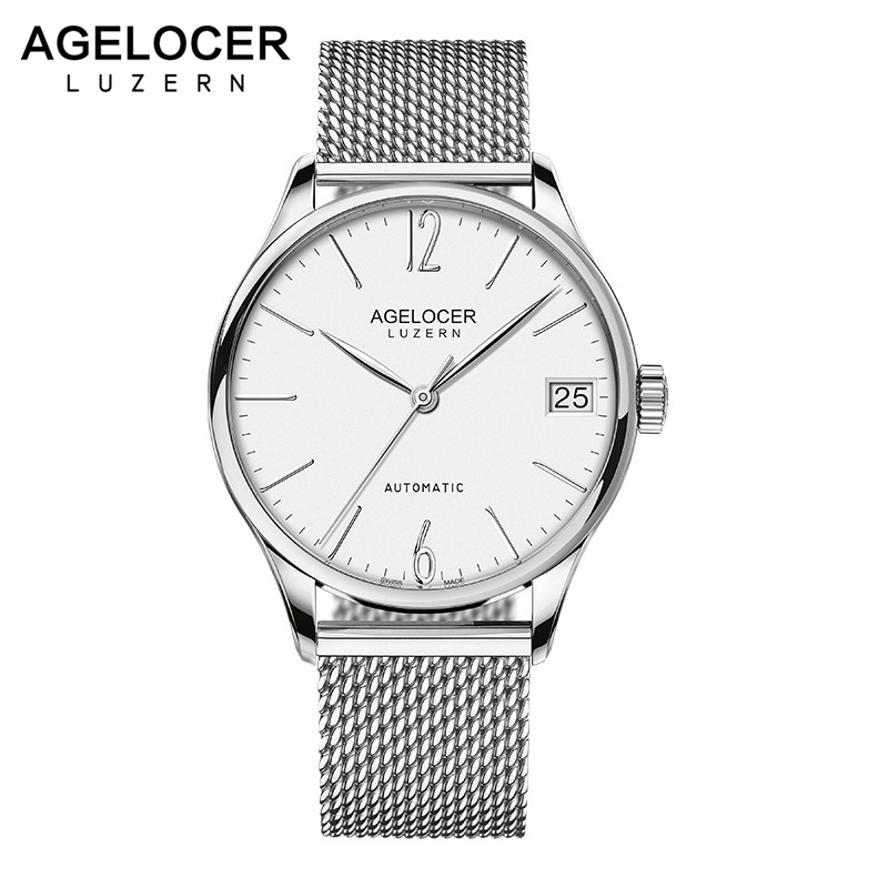 AGELOCER Top Luxury Brand Men Watch Business Fashion Casual Mens Automatic Mechanical Watches Waterproof relogio masculino reloj hombre top brand luxury simple fashion casual business watches men date waterproof automatic mens watch relogio masculino