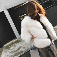 FURSARCAR 100 Real Fox Fur Coat Women Winter Warm Thick Short Female Jacket Natural Fur Geuine