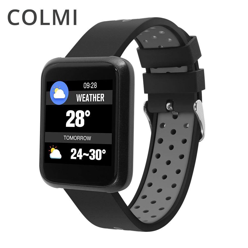 COLMI New Sport Smart Watch Fitness Bracelet Activity Tracker ip68 Waterproof Band Blood Pressure Measurement Wristband for men