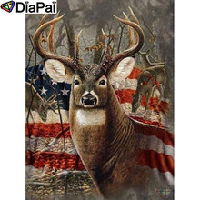 DIAPAI 5D DIY Diamond Painting 100% Full Square/Round Drill banner deer Diamond Embroidery Cross Stitch 3D Decor A21891 diapai 100