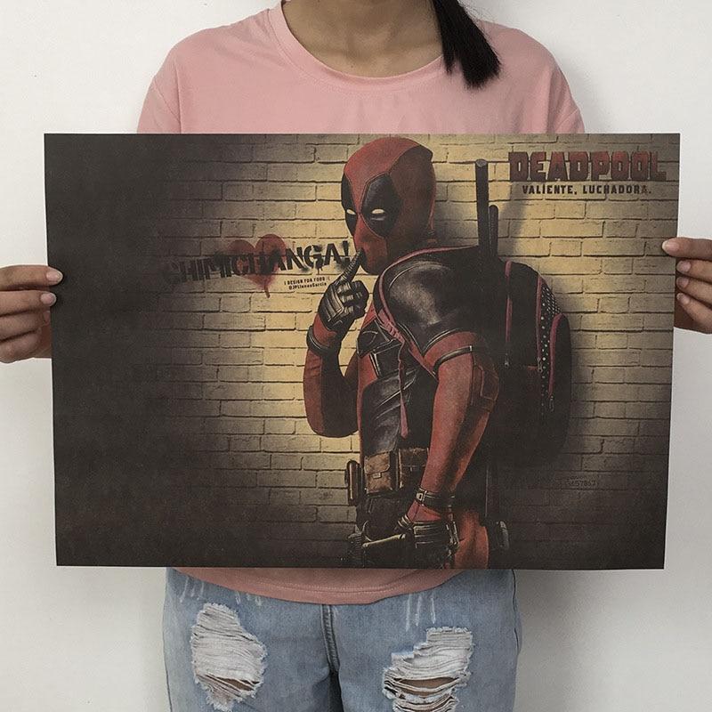 Mling 1 шт., 51,5x36 см, постер из серии Marvel, Мстители, война бесконечности, Ретро плакат, наклейки на стену для гостиной, украшение для дома - Цвет: H01