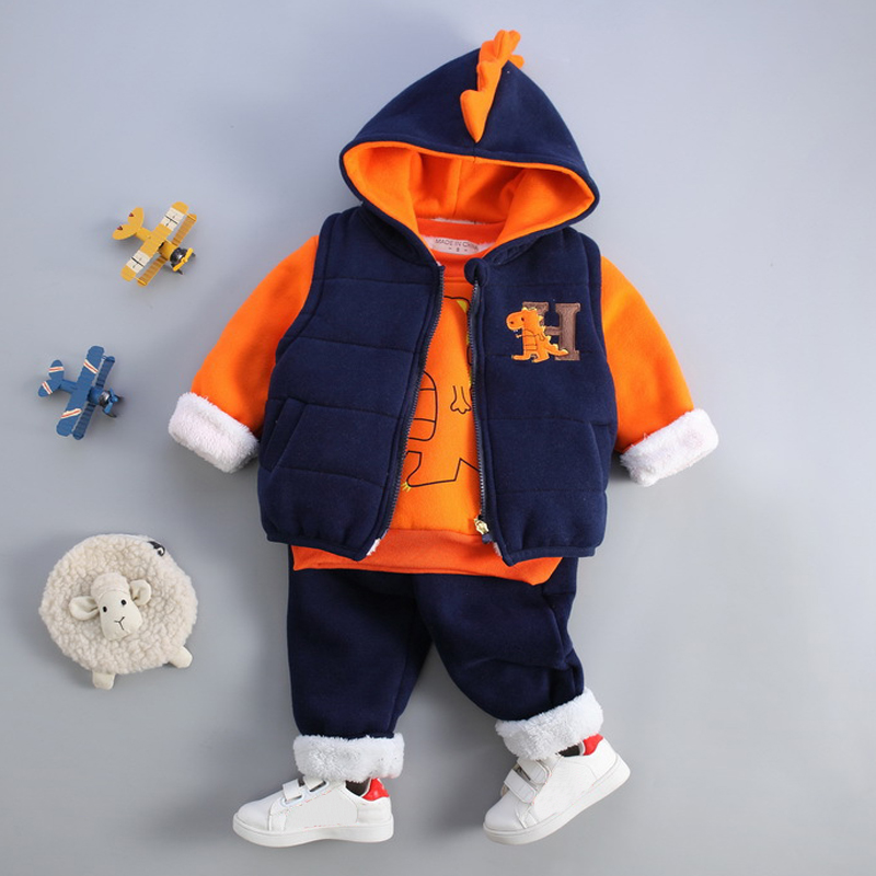 цены Kids Baby Boy Clothes Sets Baby Clothing Fashion High Qulity Hooded Set For Boy Outfit Toddler Infant Children Suit 0 2 3 Years