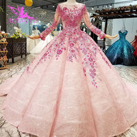 AIJINGYU China Factory Wedding Dresses Plus Size 2018 Princess With Long Sleeves Mother Of The Bride Real Sample Wedding Dress
