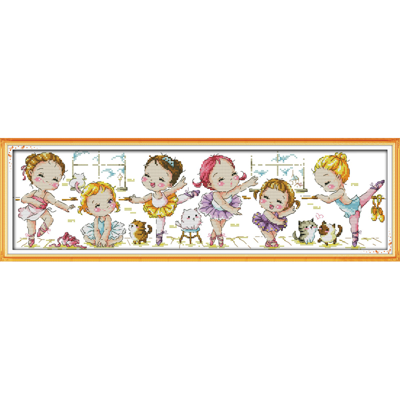 Everlasting love Christmas A ballet school Ecological cotton Chinese cross stitch kits counted stamped 11CT 14CT sales promotion