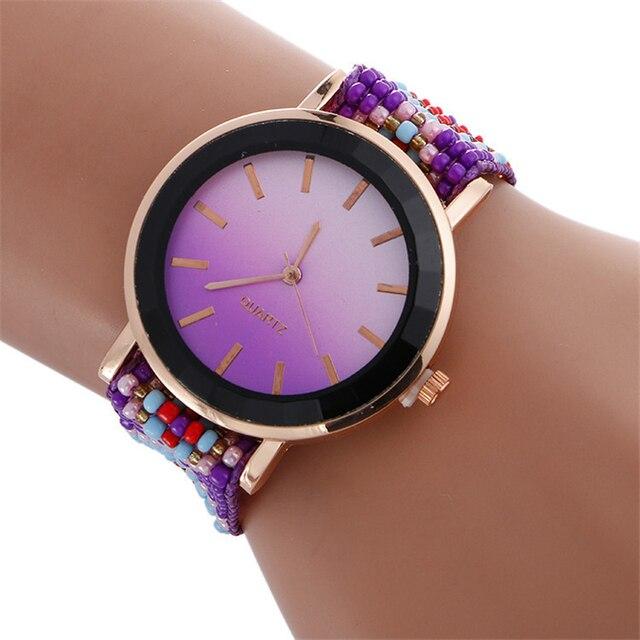 Ladies' Dress Watches Women Sweet Rainbow Watches Fashion Casual Quartz Wristwat