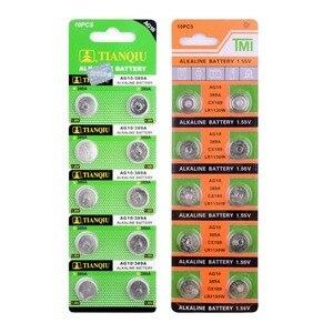 Image 5 - Ycdc Dropshipping 20Pcs AG10 Cell Coin Batterij LR1130 V10GA Horloge Button Coin 189 389 390 LR54 Batterijen + Hot selling + 50% Korting